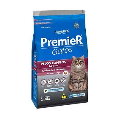 Ração Premier Ambientes Internos Pelos Longos Para Gatos Adultos Sabor Frango 1,5kg
