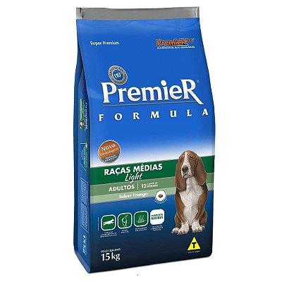 Ração Premier Fórmula Light Para Cães Adultos Sabor Frango - 15kg