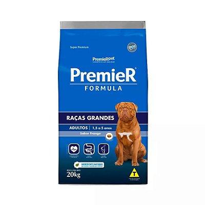 Ração Premier Fórmula Para Cães Adultos De Raças Grandes Sabor Frango 20kg