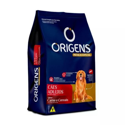 Ração Origens Para Cães Adultos Sabor Carne E Cereais 3kg