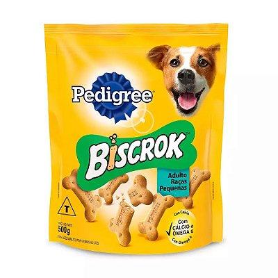 Biscoito Pedigree Biscrok Mini Para Cães Adultos De Raças Pequenas 500g