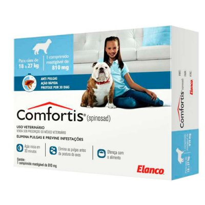 Antipulgas Comfortis Elanco Para Cães 18 A 27kg C/1 Un