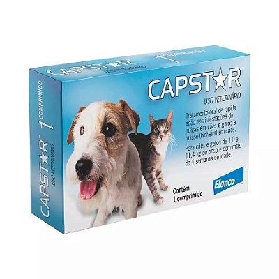 Antipulgas Elanco Capstar 11mg Para Cães E Gatos De Até 11kg 6un