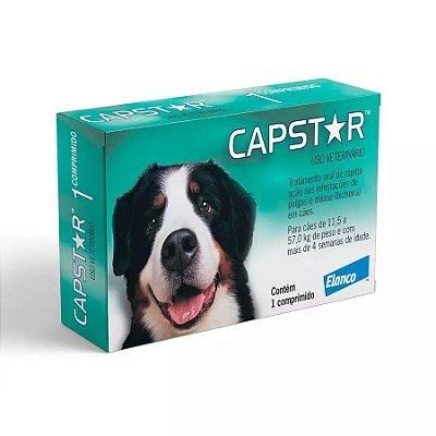 Antipulgas Elanco Capstar 57mg Para Cães De 11 A 57kg C/6 Un