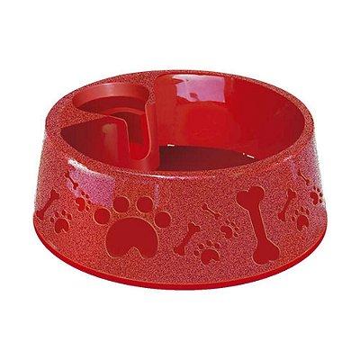Bebedouro  Plástico Para Cães Paris Furacao Pet N2 - 700 Ml (Vermelho)