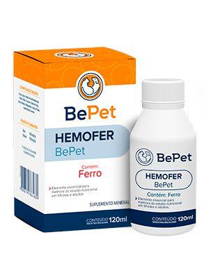 Bepet Suplemento Mineral Hemofer Para Cães E Gatos - 120ml