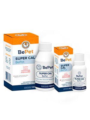 Bepet Suplemento Vitamínico Supercal Cães E Gatos - 120ml