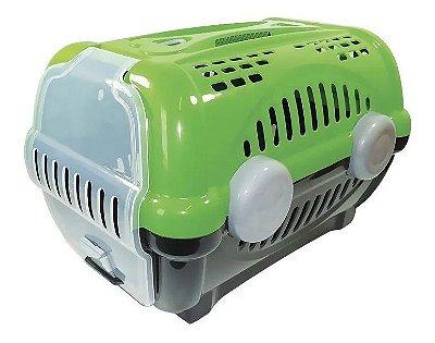 Caixa De Transporte Luxo Furacão Pet Para Cães E Gatos Verde Nº 2
