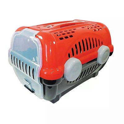 Caixa De Transporte Luxo Furacão Pet Para Cães E Gatos Vermelha Nº 1