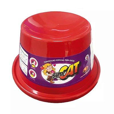 Comedouro Furacão Pet Super Cat Vermelho Para Gatos 200ml