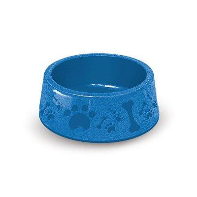 Comedouro Plástico P/ Cães Furacão Pet Azul Nº 2 (700ml)
