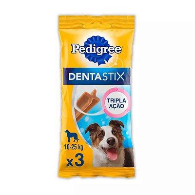 Petisco Pedigree Dentastix Cuidado Oral Para Cães Adultos Raças Médias 3 Un