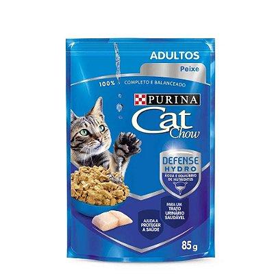 Ração Nestlé Purina Cat Chow Adultos Sachê Peixe Ao Molho 85g