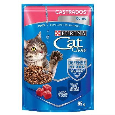 Ração Nestlé Purina Cat Chow Castrados Sachê Carne Ao Molho 85g