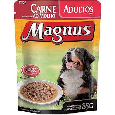 Ração Úmida Magnus Sachê Para Cães Adultos Sabor Carne Ao Molho - 85g