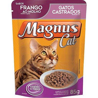 Ração Úmida Magnus Sachê Para Gatos Castrados Sabor Frango Ao Molho - 85g