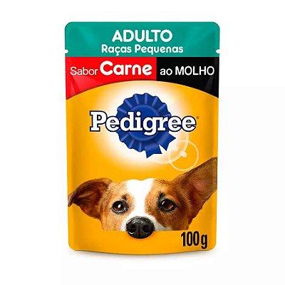 Ração Úmida Pedigree Sachê Vital Pro Para Cães Adultos De Raças Pequenas Sabor Carne Ao Molho - 100g