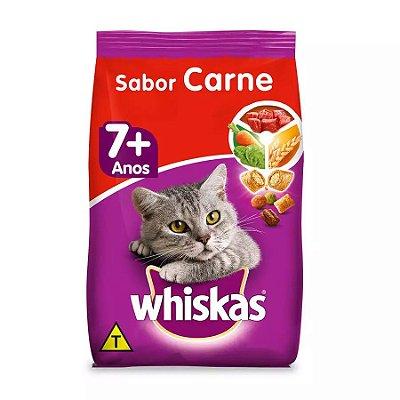 Ração Whiskas Para Gatos Adultos 7+ Carne