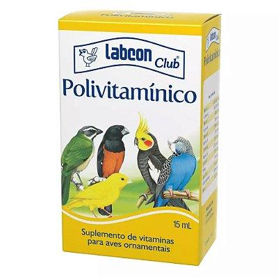 Suplemento Labcon Club Polivitamínico Para Pássaros 15ml