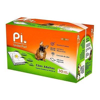 Tapete Higiênico Cães Adultos Up Pet 60x80 - 30 Un