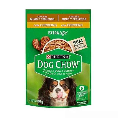 Ração Úmida Dog Chow Sachê para Cães Adultos de Raças Pequenas sabor Cordeiro 100g