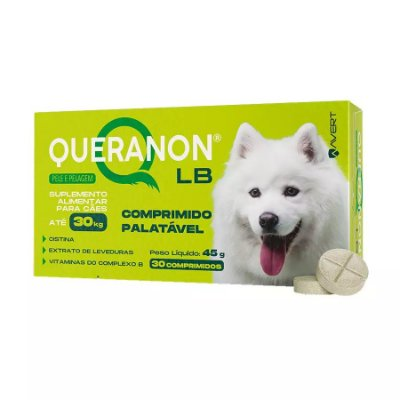 Suplemento Alimentar Avert Queranon LB para Cães C/30 Un