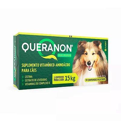 Suplemento Vitamínico Queranon para Cães 15kg C/30 Un
