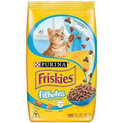 Ração Purina Friskies Frango, Cenoura e Leite para Gatos Filhotes 500g