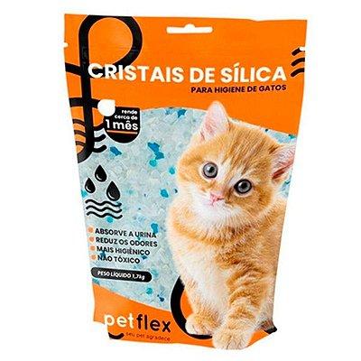 Areia Higiênica Pet Flex com Cristais de Sílica para Gatos - 1,5kg