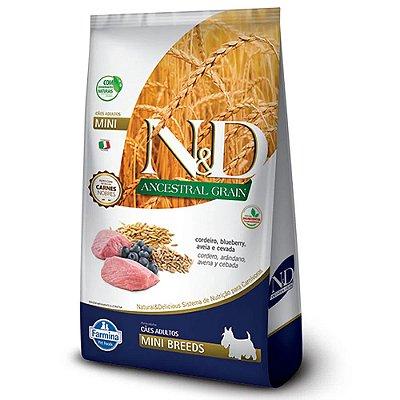 Ração N&D Ancestral Grain Cães Adultos Mini Cordeiro 800g