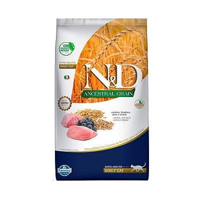 Ração Farmina N&D Ancestral Grain para Gatos Adultos Sabor Cordeiro e Blueberry 1,5kg