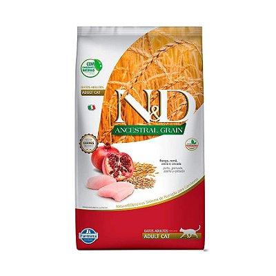 Ração Farmina N&D Ancestral Grain para Gatos Adultos Sabor Frango e Romã 400g
