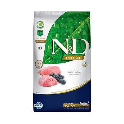 Ração Farmina N&D Prime para Gatos Adultos Sabor Cordeiro e Blueberry 1,5kg