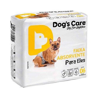 Fralda Higiênica Dogs Care com Gel para Cães Machos 6 Unidades G