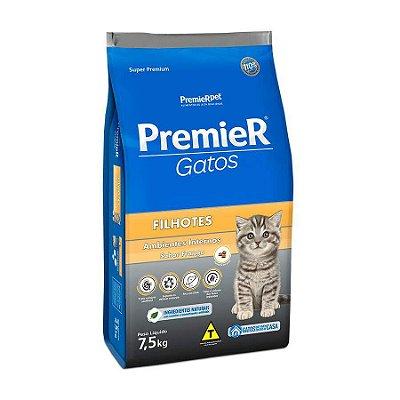 Ração Premier Ambientes Internos para Gatos Filhotes Sabor Frango 7,5kg