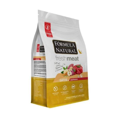 Ração Fórmula Natural FreshMeat para Gatos Adultos Castrados Sabor Carne 7kg