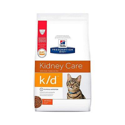 Ração Hills Prescription Diet K/D Cuidado Renal Para Gatos Adultos Com Doença Renal 1,8kg