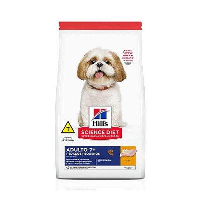 Ração Hills Science Diet para Cães Adultos 7+ Pedaços Pequenos Sabor Frango 2,4kg
