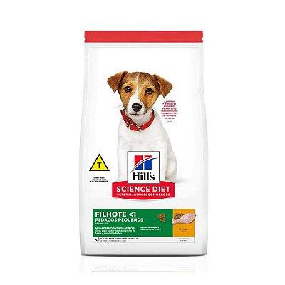 Ração Hills Science Diet Pedaços Pequenos para Cães Filhotes Pequeno Porte Sabor Frango 2,4kg
