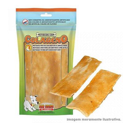 """Osso Chips 2x6"""" com Colágeno e Cobertura de Pasta de Frango 3un"""