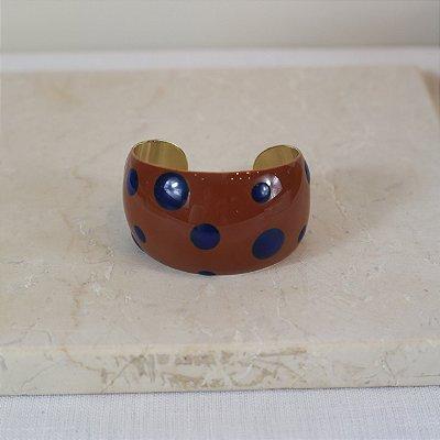 Bracelete Dots Color Nath - Marrom e Marinho