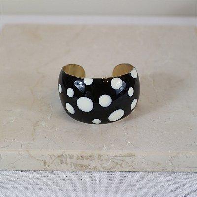 Bracelete Dots Color Nath - Preto e Branco
