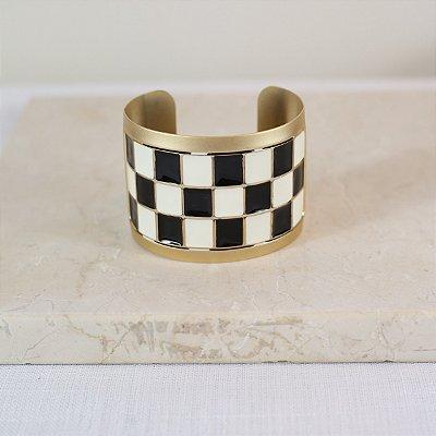 Bracelete Xadrez Color Nath - Preto e Branco