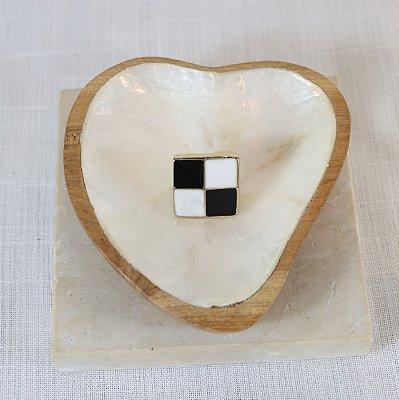 Anel Xadrez Color Nath - Preto e Branco
