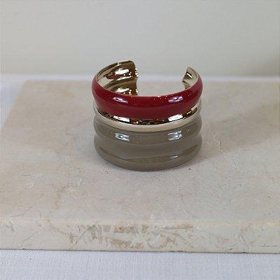 Bracelete Gomos - Vinho e Cinza