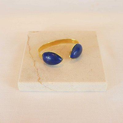 Pulseira Duas Pedras - Lapis Lazuli