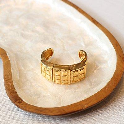 Bracelete Cubos - Dourado