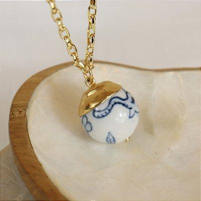 Pingente Bola Zoo - Azul e Branco