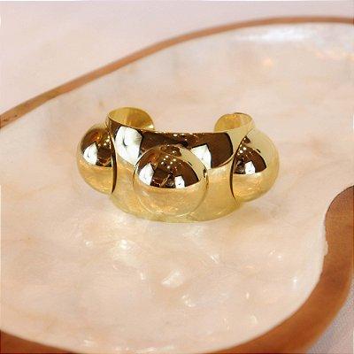 Bracelete Três Bolas - Dourado