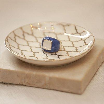 Anel Bicolor Max Maria - Azul e Branco